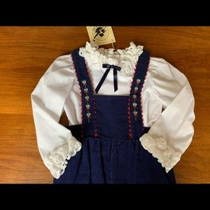 2t Vintage good lad blouse overalls set